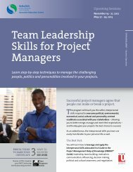 Team Leadership Skills for Project Managers - Schulich Executive ...