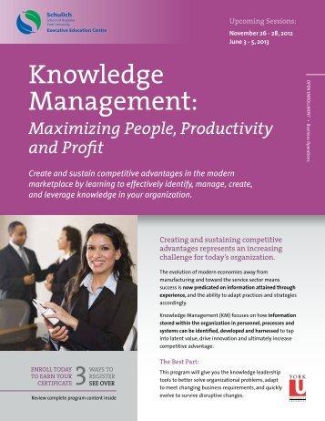 Knowledge Management: - Schulich Executive Education Centre ...