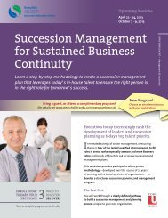 Succession Management for Sustained Business Continuity