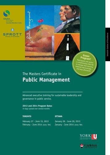 Public Management - Schulich Executive Education Centre - York ...