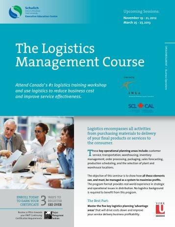 The Logistics Management Course - Schulich Executive Education ...