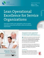 Lean Operational Excellence for Service Organizations - Schulich ...