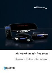 bluetooth hands-free units - seecode-europe.de
