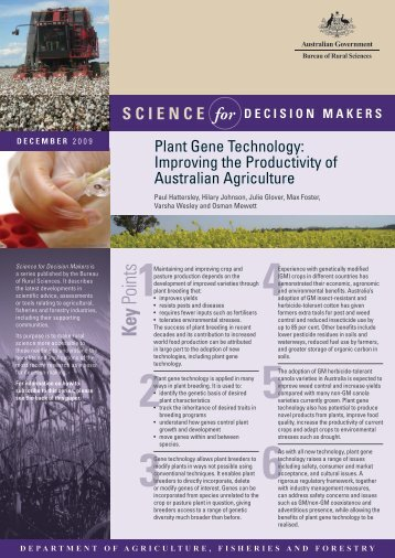 Plant Gene Technology - ABARES Publications: search