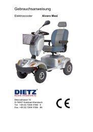 Alvaro Maxi von Dietz - Handbuch für das Elektromobil bei ...
