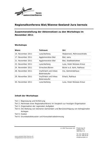 Aktennotizen - seeland-biel-bienne