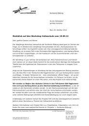 Information an Gemeinden vom 29.10.2012 - seeland-biel-bienne