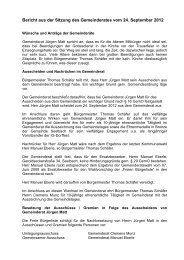 Bericht der Sitzung am 24.09.2012 - seelbach-online