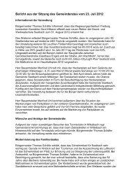 Bericht der Sitzung am 23.07.2012 - seelbach-online