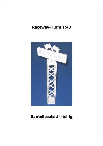 Bauanleitung Racewayturm