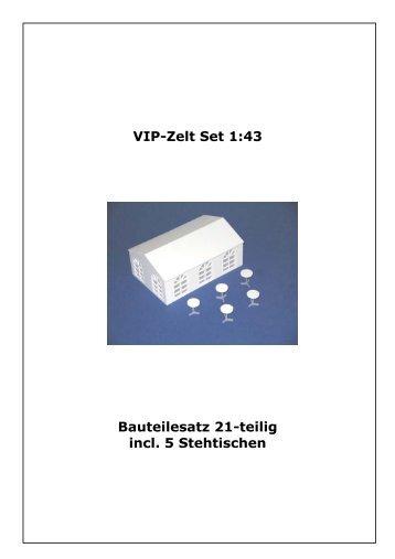 Bauanleitung VIP-Zelt Set