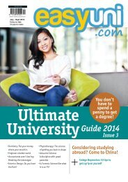 easyuni Ultimate University Guide 2014: Issue 3