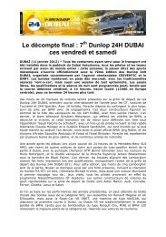 Ready to race: 7th Dunlop 24H DUBAI on Friday and Saturday