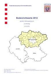 Bodenrichtwerte 2012 - Fronhausen