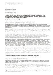 Asociación del sÍndrome metabólico y sus componentes con - SciELO