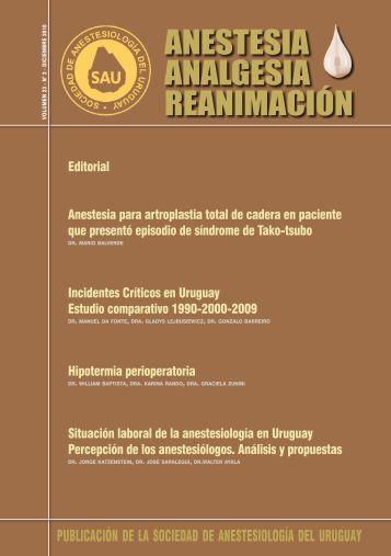 ANESTESIA ANALGESIA REANIMACIÓN - SciELO