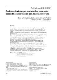Factores de riesgo para desarrollar neumonía asociada a ... - SciELO