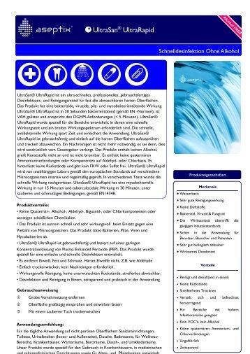 Aseptix UltraSan Desinfektionsspray Ultra Rapid 750 ml