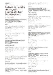 Archivos de Pediatría del Uruguay Volumen 78, 2007 ... - SciELO