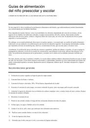 Guías de alimentación del niño preescolar y escolar - SciELO