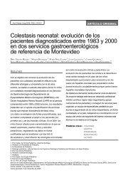 Colestasis neonatal: evolución de los pacientes ... - SciELO