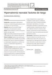Hipernatremia neonatal: factores de riesgo - SciELO