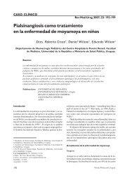 Pialsinangiosis como tratamiento en la enfermedad de ... - SciELO