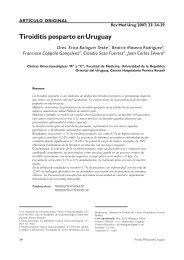 Tiroiditis posparto en Uruguay - SciELO