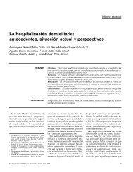 La hospitalización domiciliaria: antecedentes, situación ... - SciELO