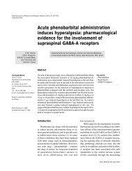 Acute phenobarbital administration induces hyperalgesia ... - SciELO