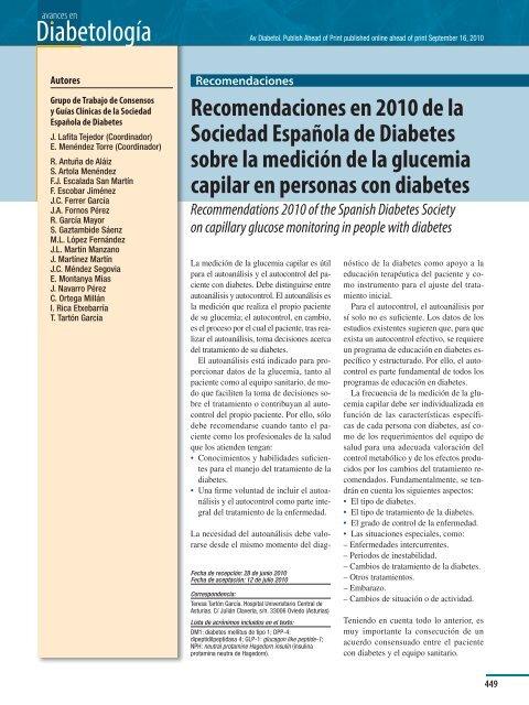 educación diabetologia en diabetes tratamiento gestacional