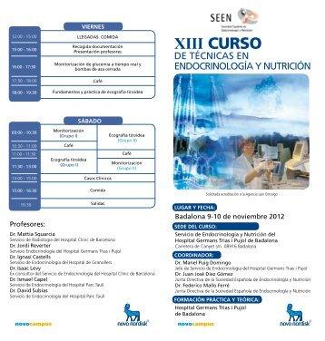xiii curso - Sociedad Española de Endocrinología y Nutrición (SEEN)
