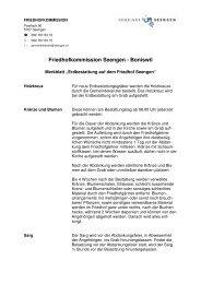 Merkblatt «Erdbestattung auf dem Friedhof Seengen» (pdf)