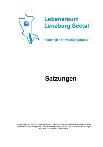 Lebensraum Lenzburg Seetal Satzungen - Seengen