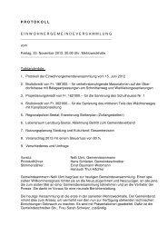 Protokoll Einwohnergemeindeversammlung 23.11.2012 - Seengen