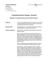 Merkblatt «Urnenbeisetzung auf dem Friedhof Seengen» (pdf)