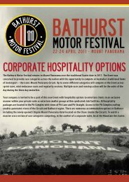 Download Brochure here. - Bathurst Motor Festival