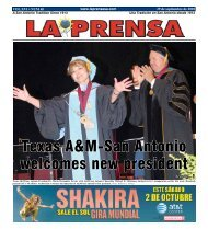 Texas A&M-San Antonio welcomes new president - La Prensa De ...