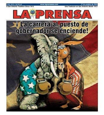 Â¡ La carrera al puesto de gobernador se enciende! - La Prensa De ...