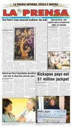 Kickapoo pays out $1 million jackpot - La Prensa De San Antonio