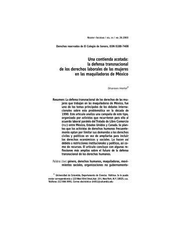 La defensa transnacional de los derechos laborales de las mujer