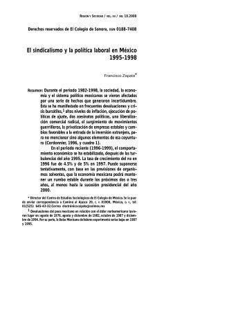 El sindicalismo y la política laboral en México