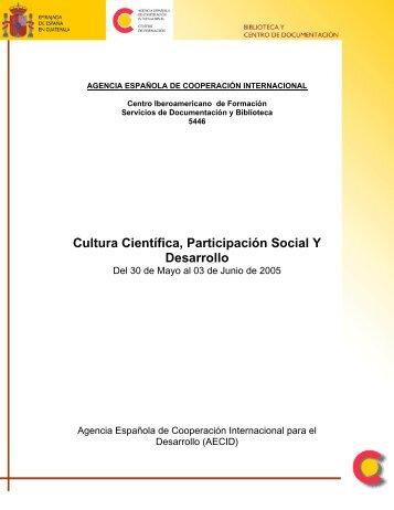 Cultura Científica, Participación Social Y Desarrollo - Latin American ...
