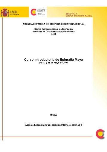 Curso Introductoria de Epigrafía Maya