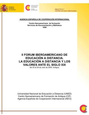 II FORUM IBEROAMERICANO DE EDUCACIÓN A DISTANCIA. LA ...