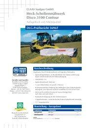 DLG Test DISCO 3100 CONTOUR - Claas