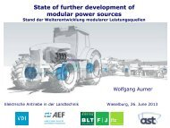 State of further development of modular power sources Stand der ...