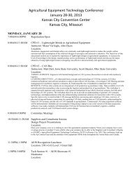 Agricultural Equipment Technology Conference January 28 ... - Claas