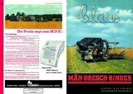 Faksimile Nachdruck CLAAS Vertriebsgesellschaft mbH Harsewinkel