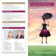 Programmflyer 2012 - Fachkongress für Business Frauen